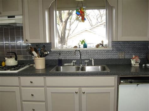 faux tin backsplash de leon texas decorative ceiling tiles inc s blog