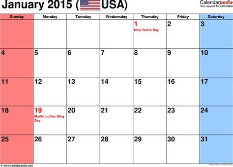 printable calendar jan 18 january 2015 calendar printable with holidays free best