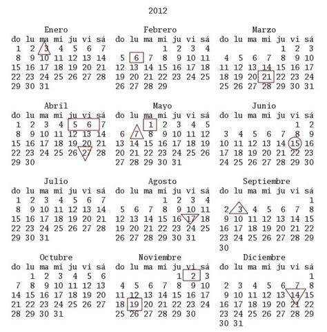 Calendario 2012 Mexico Calendarios 2012 M 233 Xico Imagui