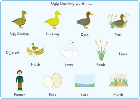 the duckling word mats free early years primary