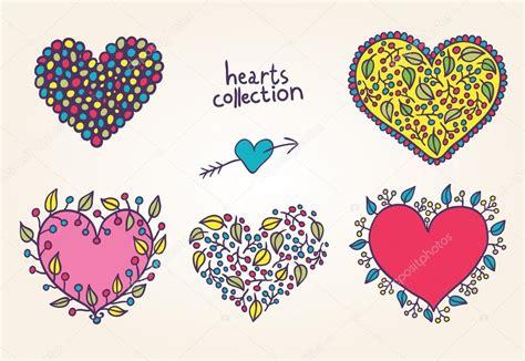 dibujos archivos fotos de corazones conjunto de corazones brillantes dibujos animados