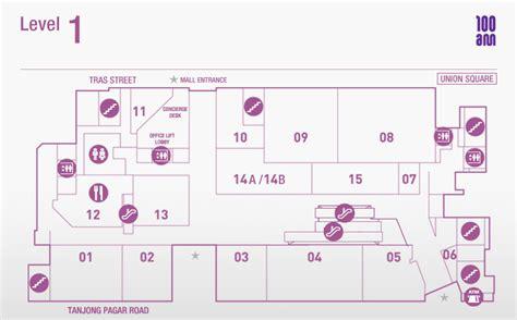 vivocity layout plan mall directory 100 am mall