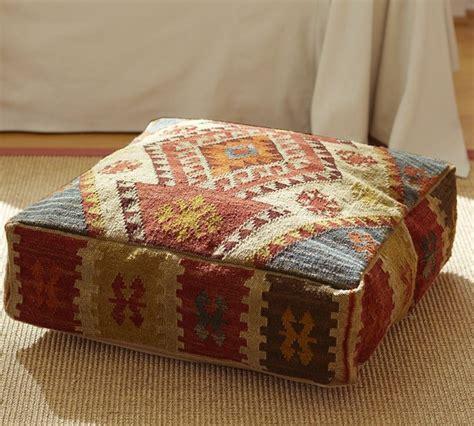 Floor And Decor Arizona kilim recycled yarn floor pillow mediterranean floor