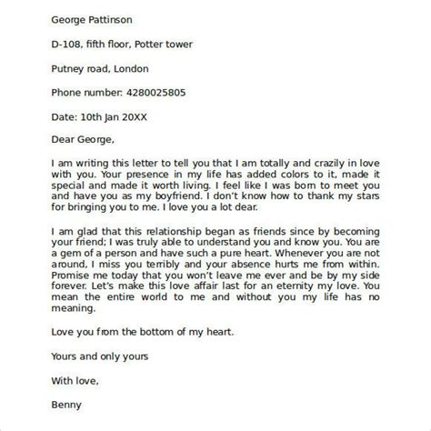 Letter For Him great sle letters for him letter format writing