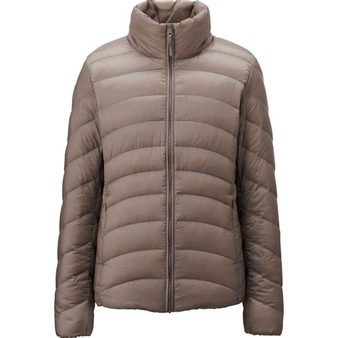 uniqlo women ultra light down parka uniqlo women ultra light down jacket in khaki beige lyst