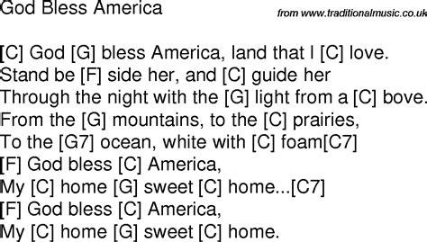 printable lyrics god bless america god bless america song