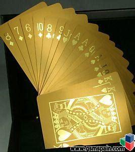 Se vende baraja de poker chapadas en oro de 24k (999.99) de pureza