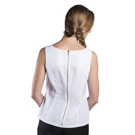Blouse Blouse s sleeveless zipper back blouse executive apparel