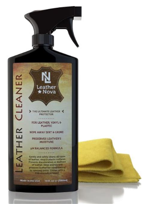 leather couch cleaner products trinova leather cleaner with microfiber towel 18 oz