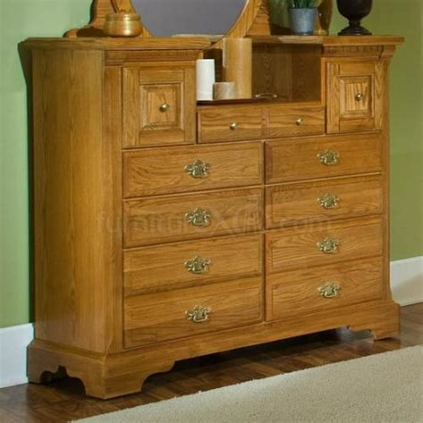 Oak Bedroom Dresser 920 003 Vaughan Bassett Furniture Oak Ii Vanity Dresser Appliance Inc
