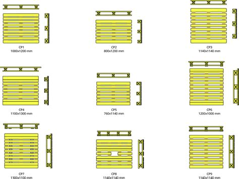 misure pedane epal cp 1 to cp 9 pallets chemical pallets wpes
