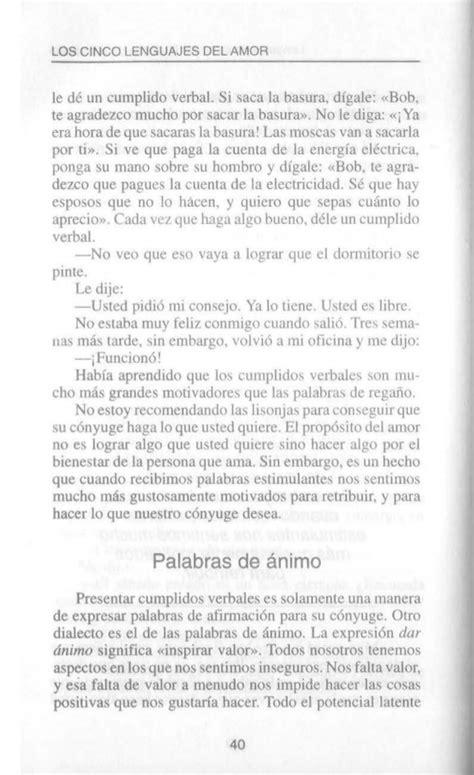 leer libro los 5 lenguajes del amor el libro los cinco lenguajes del amor por gary chapman formato desc