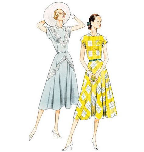 dress pattern vintage vogue retro vintage vogue 8811 40s flared dress pattern new