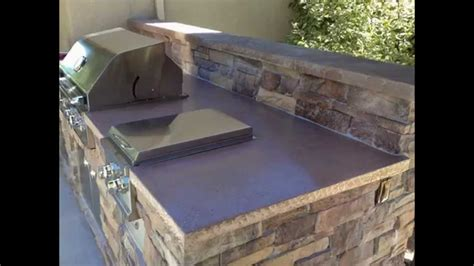 How To Build An Outdoor Kitchen Island by Outdoor Bbq Island Outdoor Kitchen Concrete Countertop