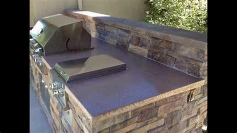 Outdoor Bbq Island Outdoor Kitchen Concrete Countertop
