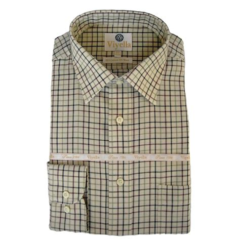 taylor pattern works inc viyella tattersall check mens shirt vy0110 olive 108