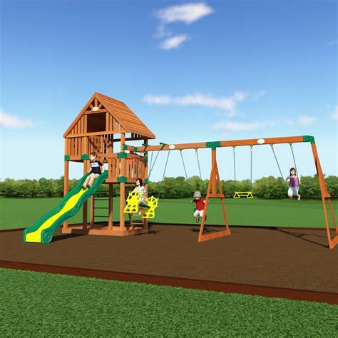metal swing sets kmart quest wooden swing set playsets backyard discovery