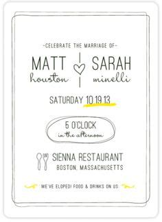 Wedding Announcement Ceremony by 1000 Ideas About Second Wedding Invitations On