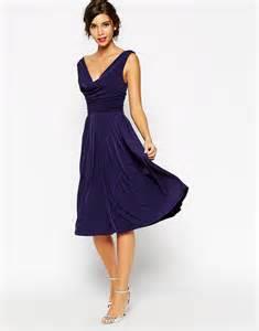 Asos Drape Dress Asos Asos Wedding Drape Cowl Neck Pleated Midi Dress At Asos
