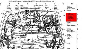 ford murcury mountaineer where is the dpfe sensor on a 1997