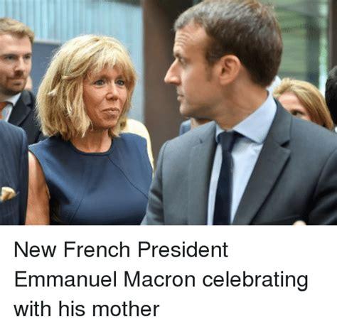 emmanuel macron mother new french president emmanuel macron celebrating with his