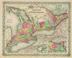 west canada map 1855 map of quot canada west and canada quot