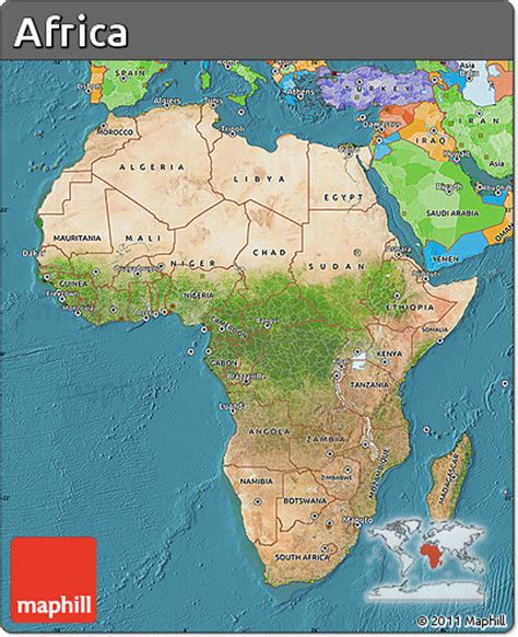 africa map sea free satellite map of africa political outside satellite sea