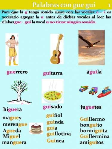imagenes y palabras con n imagen palabras con gue y gui grupos emagister com