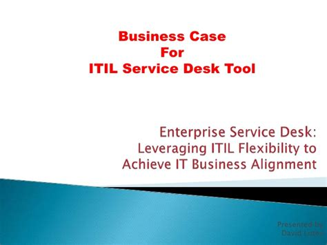 itil service desk business