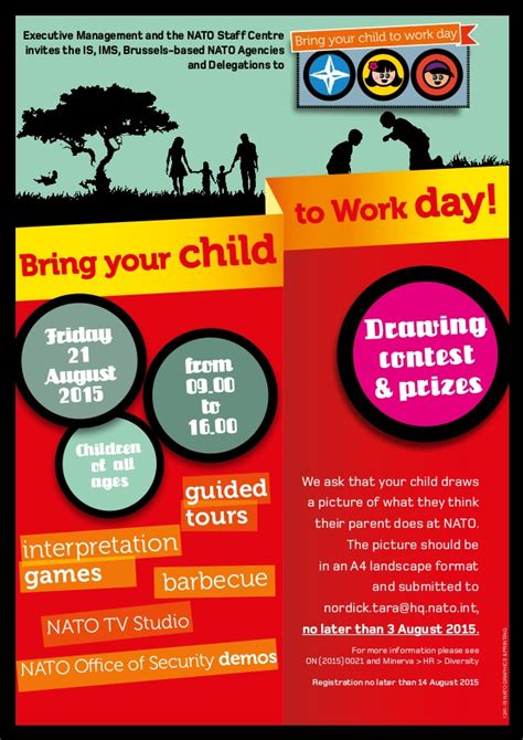 Bring A To Your Day by Bring Your Child To Work Day 2015 Poster Nato