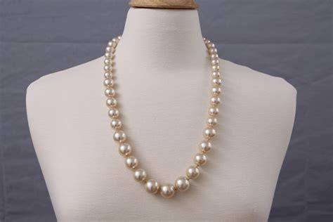 Faux Pearl Necklace classic vintage faux pearl necklace gifts by uss