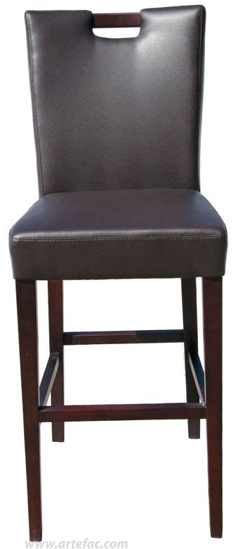 Grey n Brown Handle Back Leather Dining Chair R 787