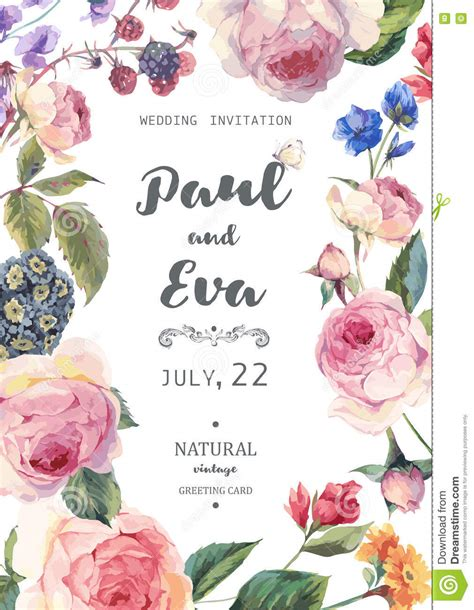 Vector Backgrounds With Roses For Invitations vintage floral vector roses wedding invitation stock