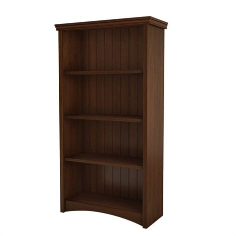 Bookcase Cherry Finish south shore glasgow 4 shelf bookcase in sumptuous cherry finish 7356767