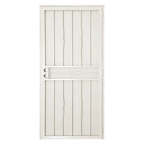 Outswing Door Security by Unique Home Designs 32 In X 80 In White Surface Mount
