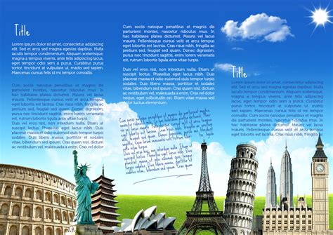 tourism brochure template travel brochure template travel brochures