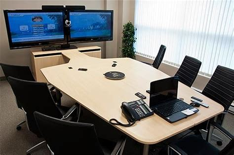 conference desk combination avf vc c video conferencing w rack sits 7 to