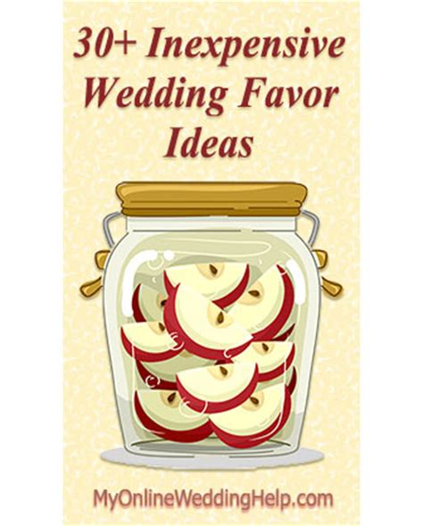 Wedding Budget For 30 Guests by 30 Inexpensive Wedding Favor Ideas My Wedding