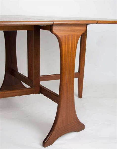 dining table with leaf plans g plan dining table drop leaf teak c 1950s at 1stdibs