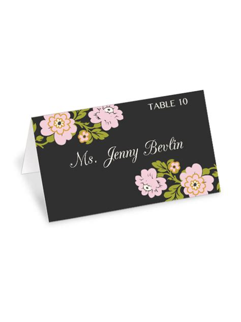 whimsical menu place card template free printable whimsical botanical wedding place cards