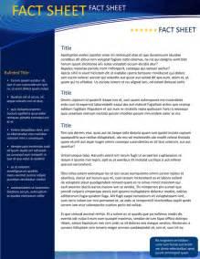 fact sheet template word free fact sheet template