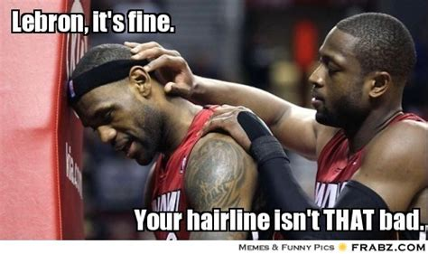 nba memes lebron james hairline