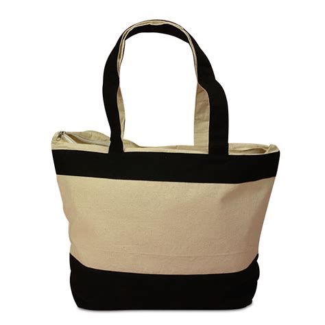 Canvas Zipper Tote | zippered heavy duty canvas tote bag