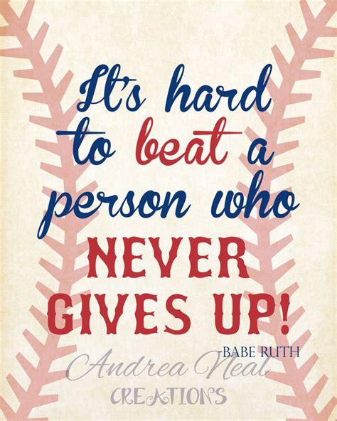 printable baseball quotes babe ruth quote baseball printable wall art instant