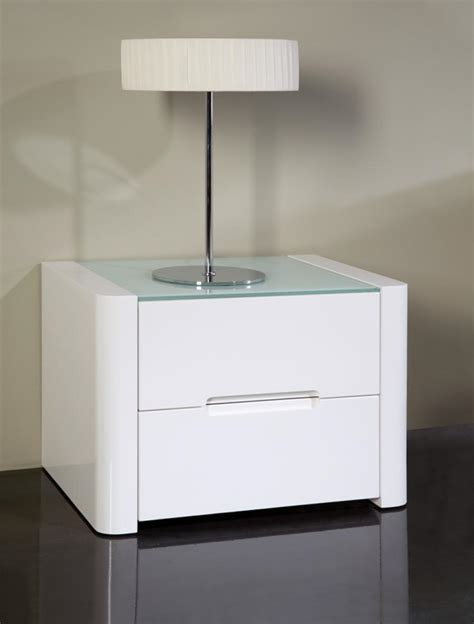 glass tops for bedroom furniture modern opus bedside cabinet high gloss bedside table