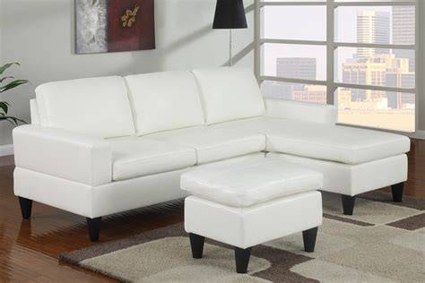 Small White Leather Sectional by Simple Small Living Room Decoration Ideas With White