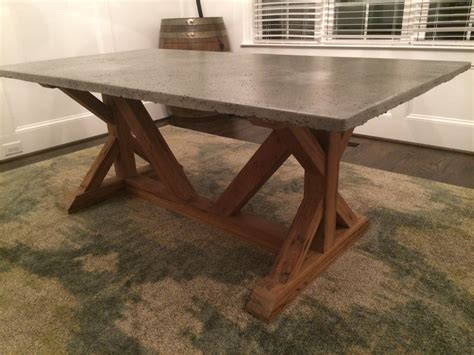 concrete top dining table cement top dining table concrete top dining room table