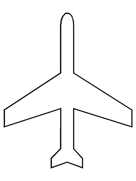 airplane cut out template airplane pattern coloring page air transportation