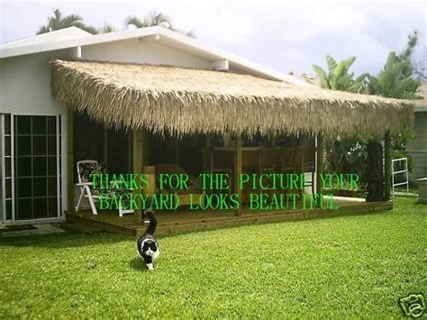 Tiki Hut Roof Grass 30 quot x 60 tiki hut palapa palm grass thatch roll