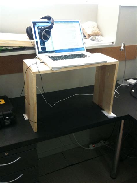 make a standing desk how to modify your existing desk to make it a standing desk